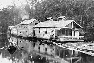 Late 1800's Cypress logging camp