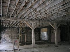 Early 20th century warehouse interior beams